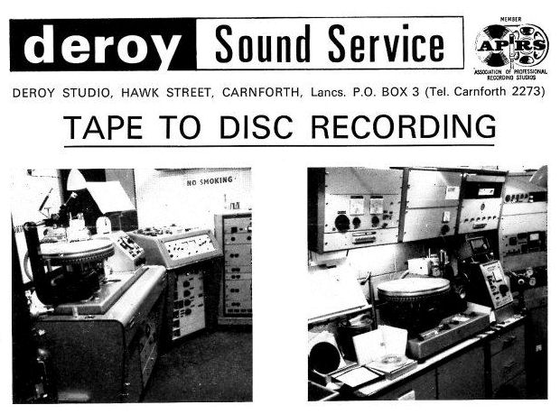 Deroy Sound Service flyer